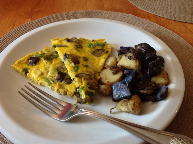 Fritatta with homefries