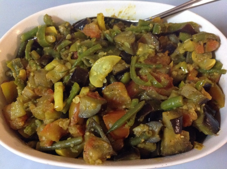 Sautéed Vegetables with curry