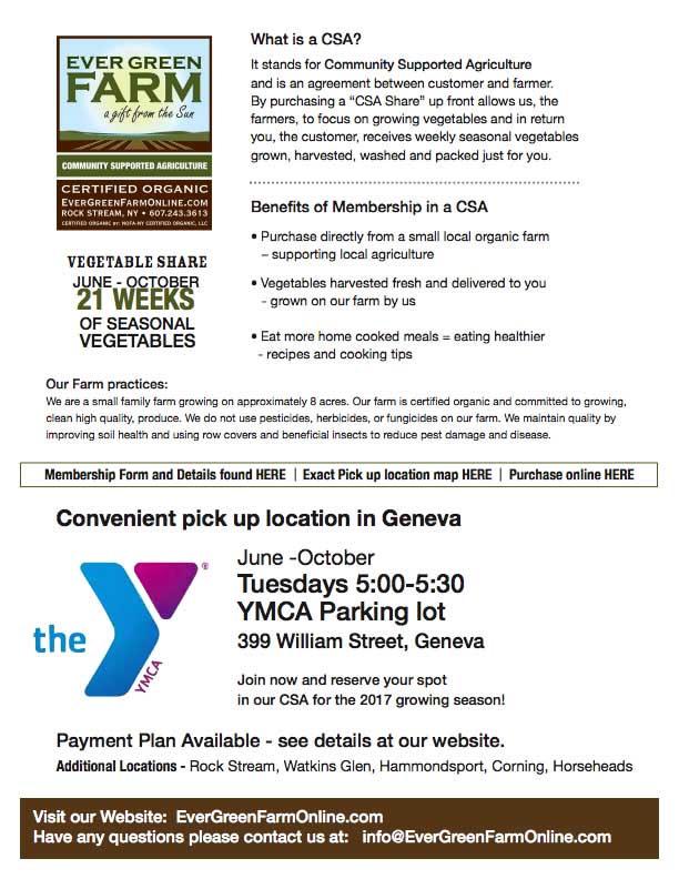 CSA Pickup YMCA Geneva