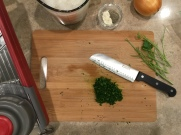 finely chop parsley leaves
