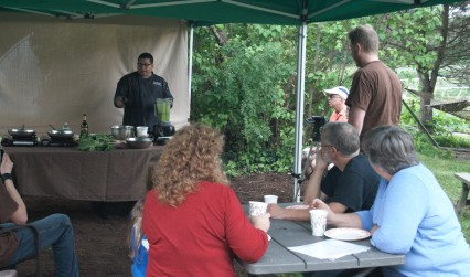 cooking demo at the open house