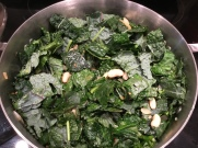 stir - kale darkening and wilting
