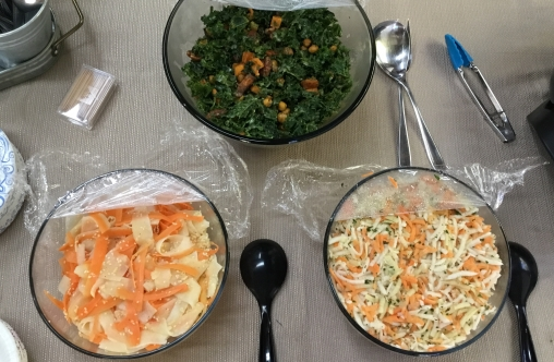Daikon & Carrot Salad/ Kale Salad/Turnip Apple Carrot Salad