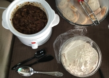 Spicy Eggplant Caponata /Creamy Radish Dip