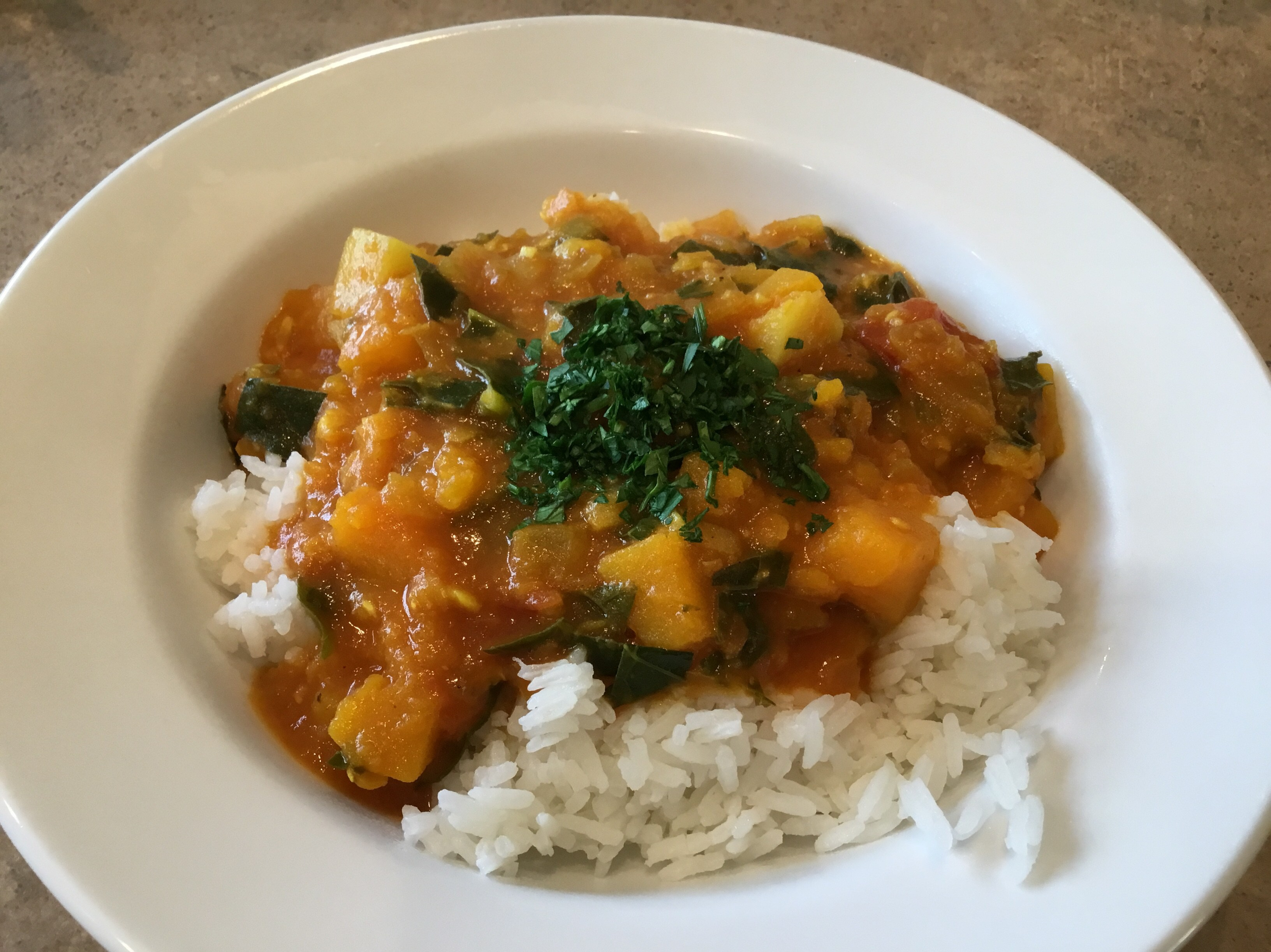 Butternut & Red Lentil Stew